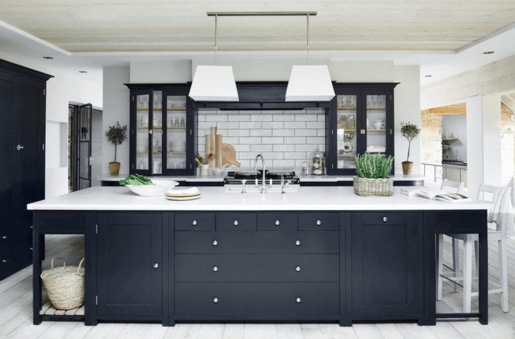 Monochromatic and black kitchens