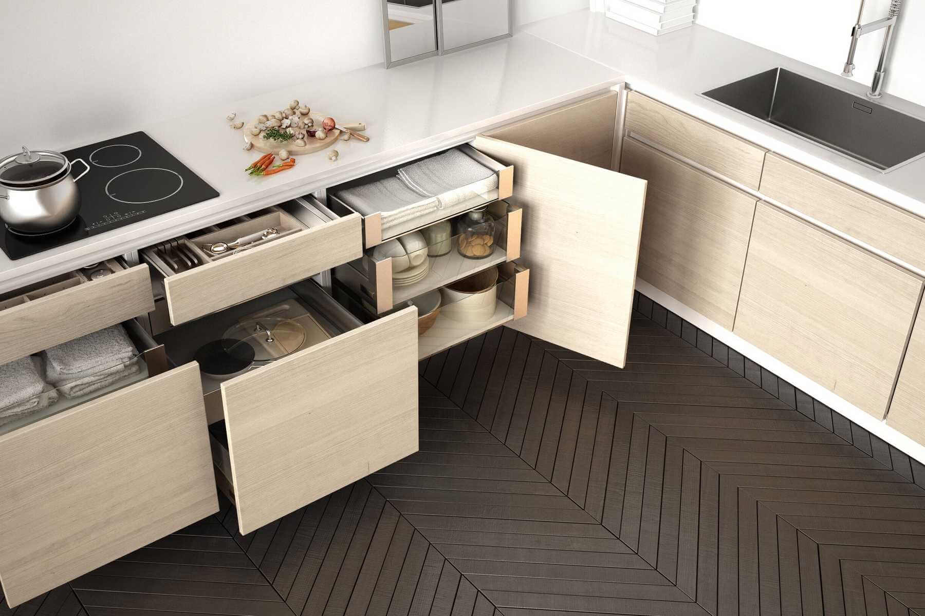Stylish Home Kitchen Drawer Design that Solve Storage Problem