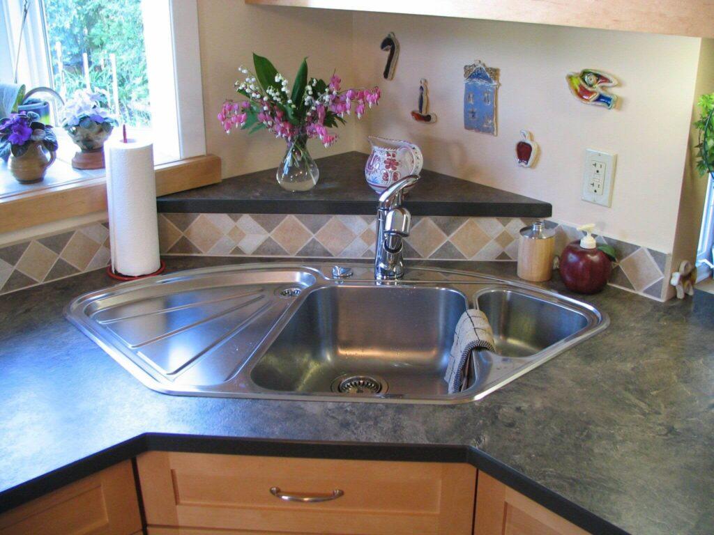 Corner Kitchen Sink 1