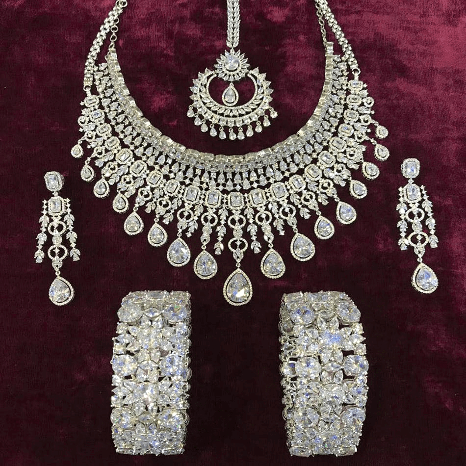Silver Bridal Jewelry