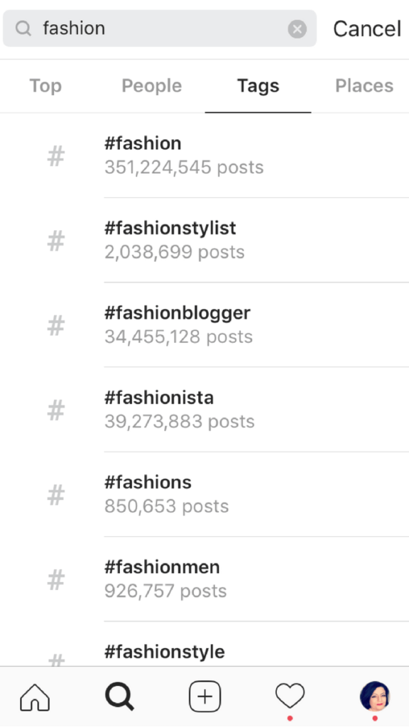 Use trending hashtags