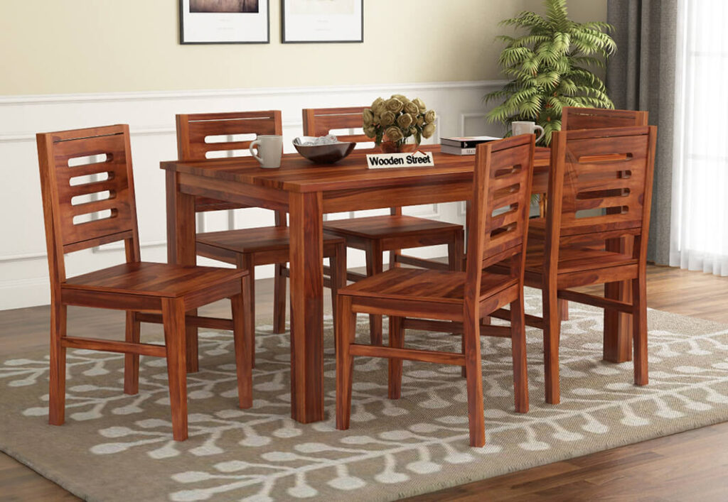 A Wooden Dining Table and Coffee Table