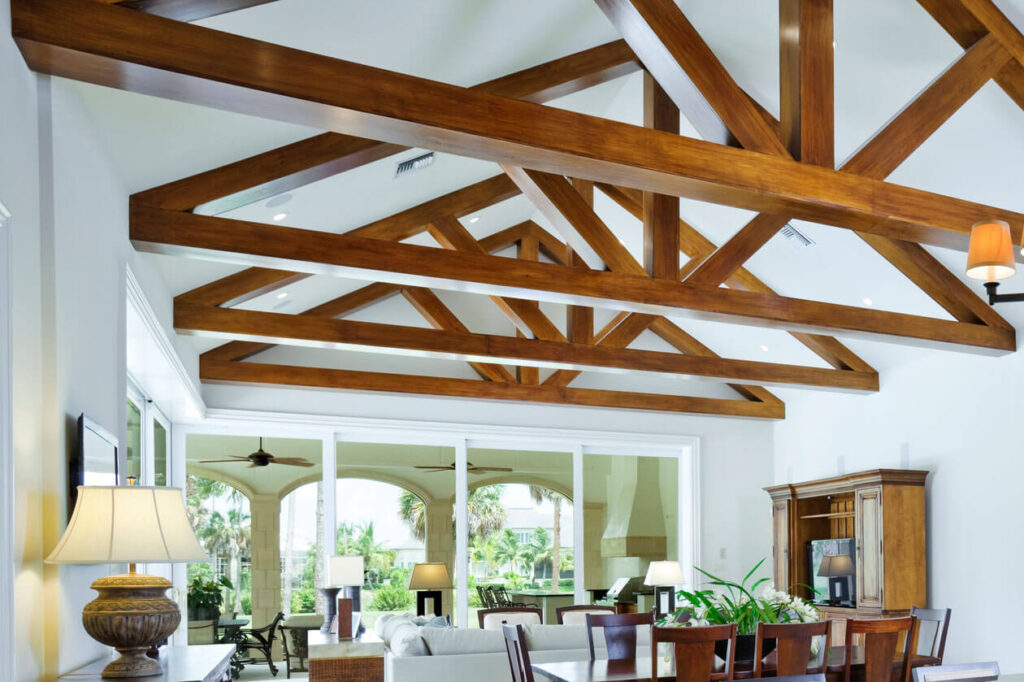 Wood beams for the ceiling